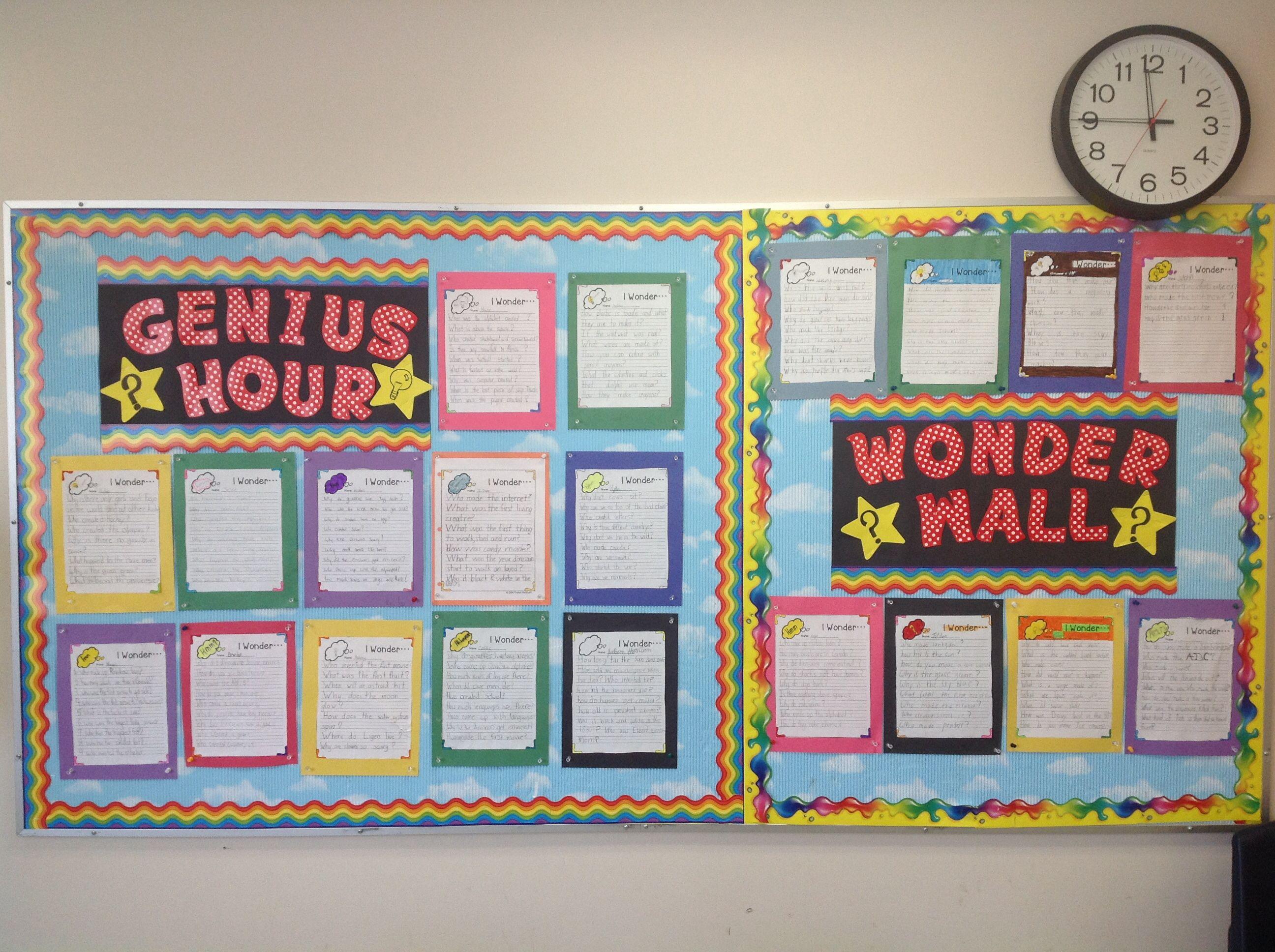 Genius Hour Wonder Wall
