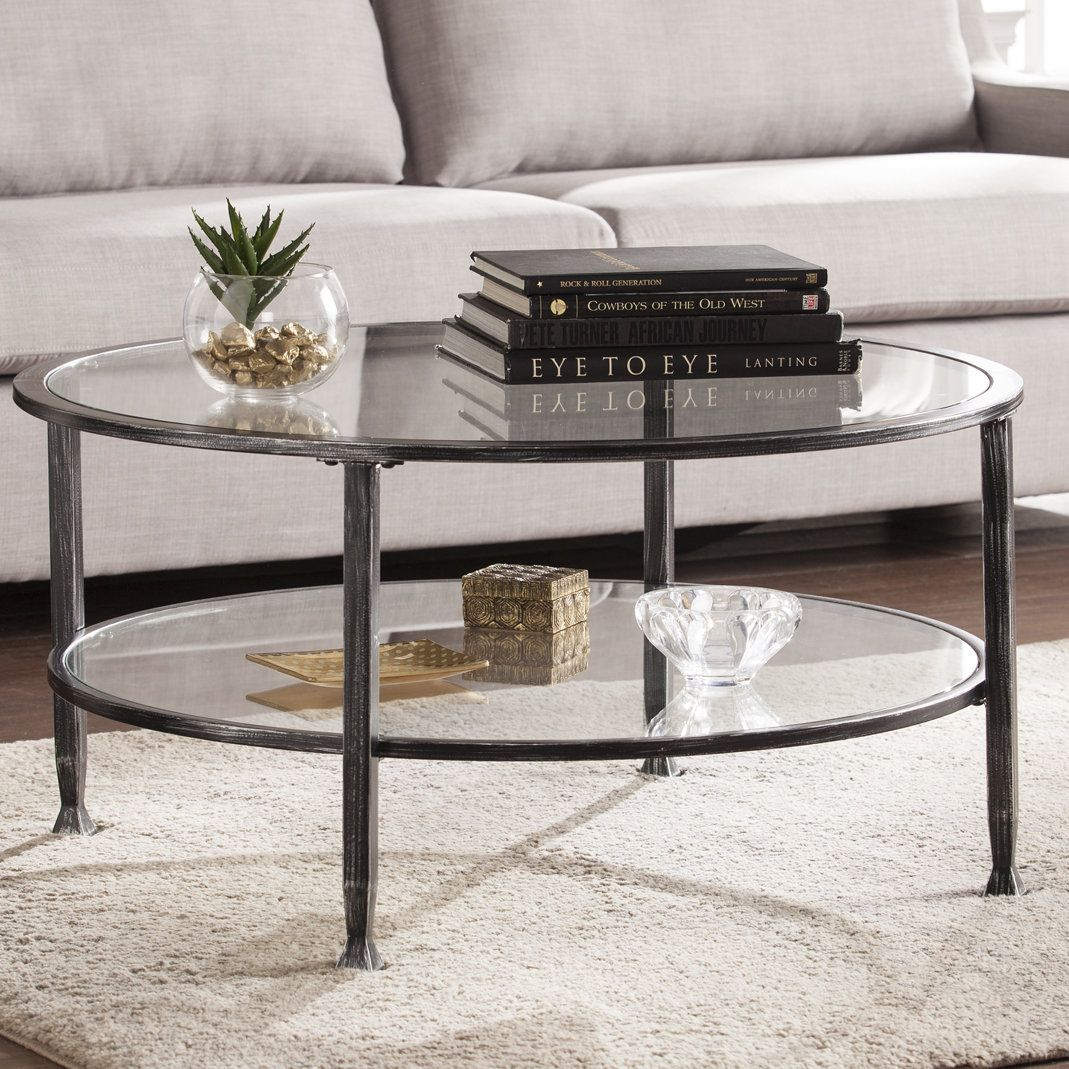 Casas Coffee Table Glass Coffee Table Decor Round Coffee Table