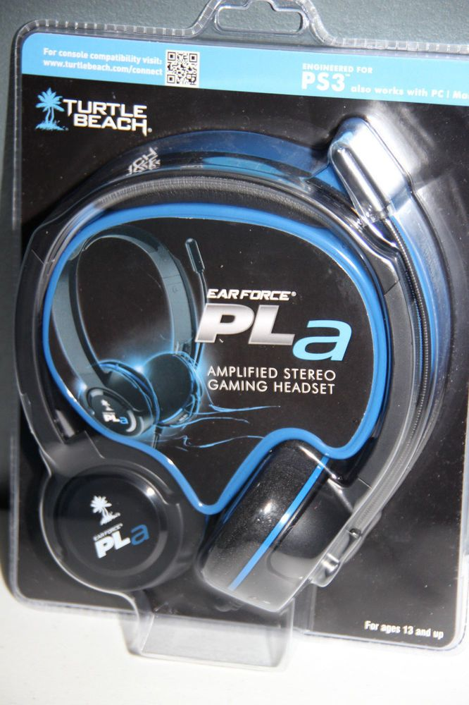 NEW Turtle Beach Ear Force Pla Gaming Headset PS3 PS4 PC Mac