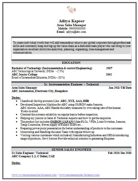 beautiful sales resume sample 1 - Cv Resume Format For Doctors