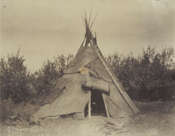 American indians & Indian Teepee | Photograph | Wisconsin Historical Society ...