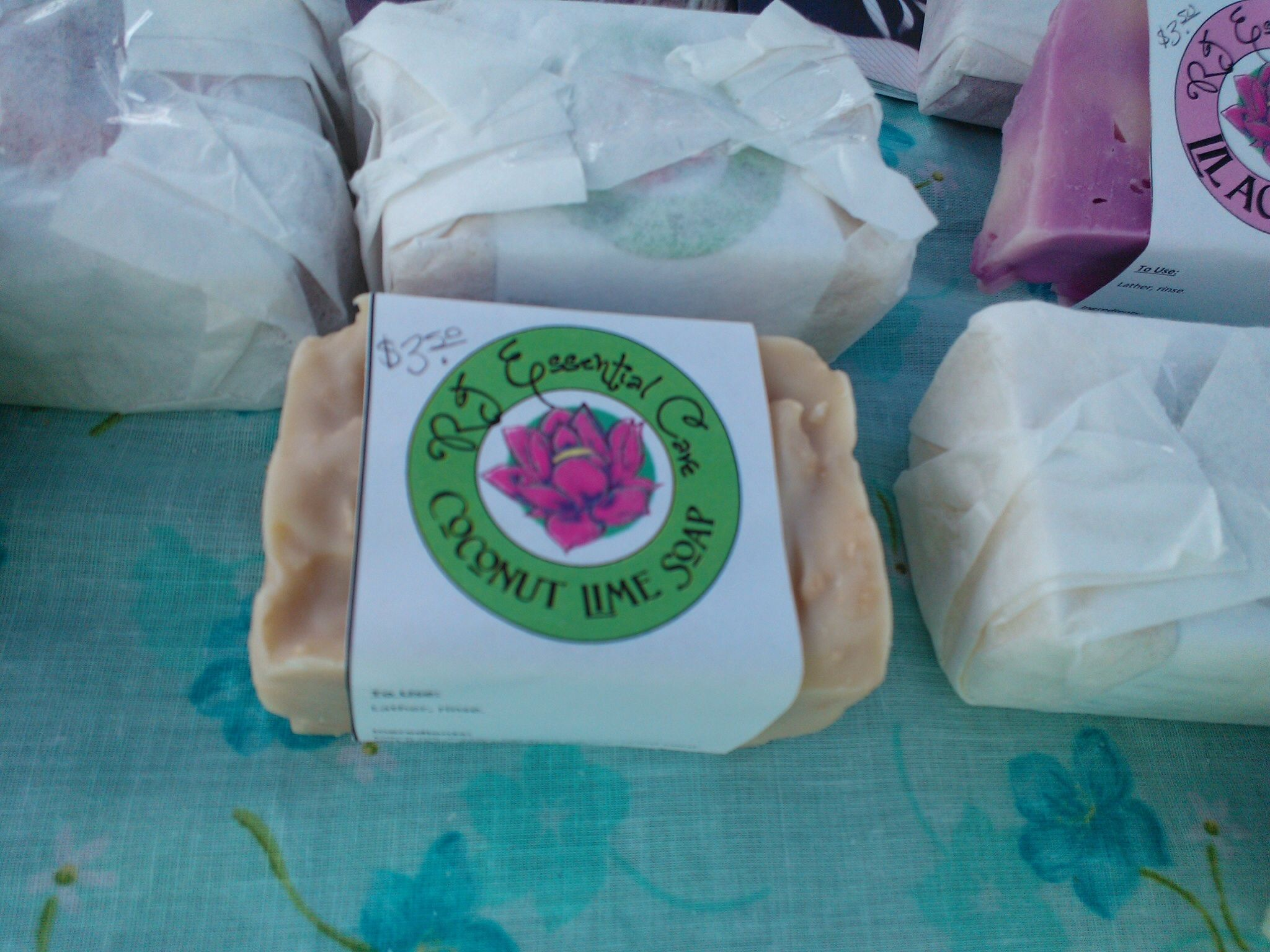 Coconut Lime Soap #poplarbluff #farmersmarket