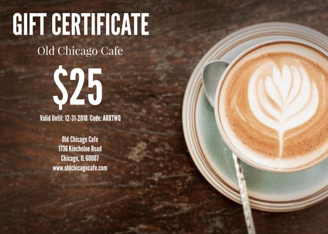 Latte Restaurant Gift Certificate Template Free Branding