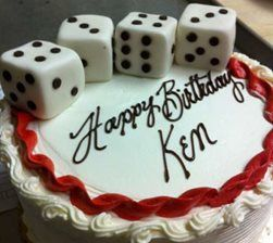 Miraculous Custom Birthday Cake With 3 D Dice From Apple Annies Bake Shop In Birthday Cards Printable Opercafe Filternl