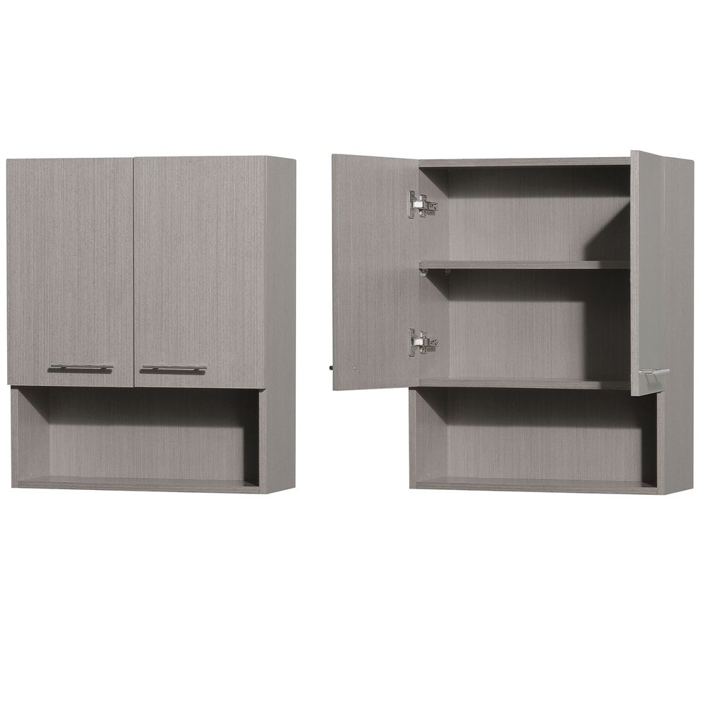 Centra Bathroom Wall Cabinet - Gray Oak | Bathroom Storage ...