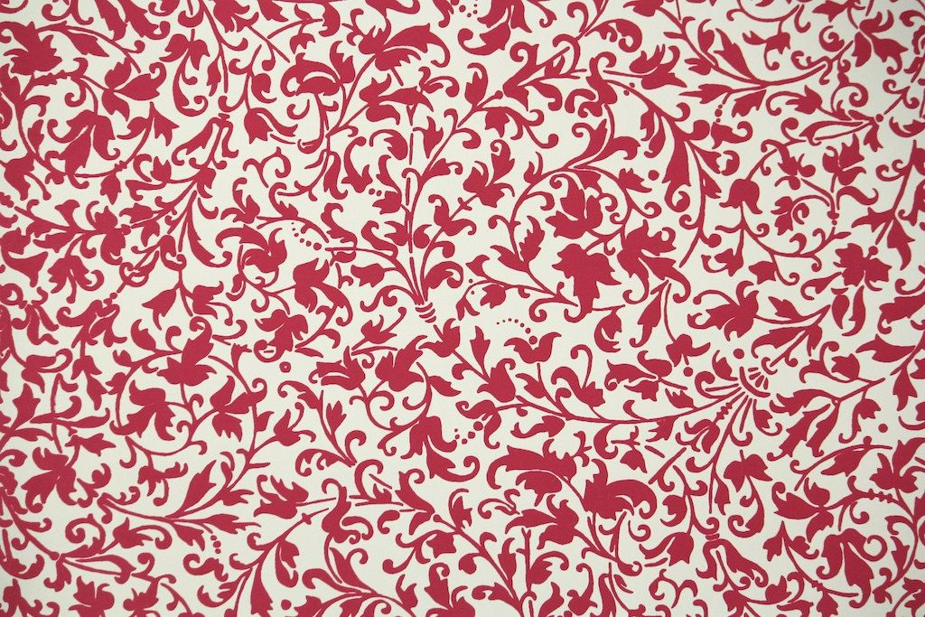 1950s Vintage Wallpaper By The Yard Red And White Floral Vintage Wallpaper Vintage Wallpaper Patterns Floral Wallpaper