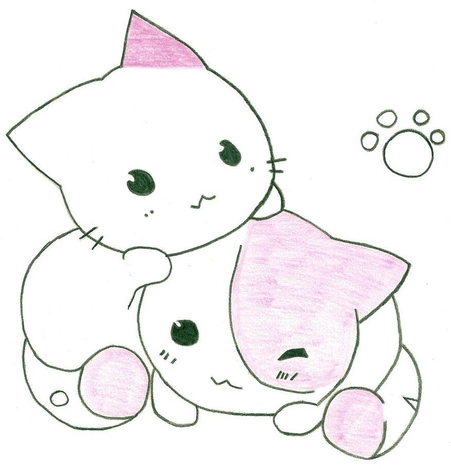 Cute anime cat drawing cats are soooo cute