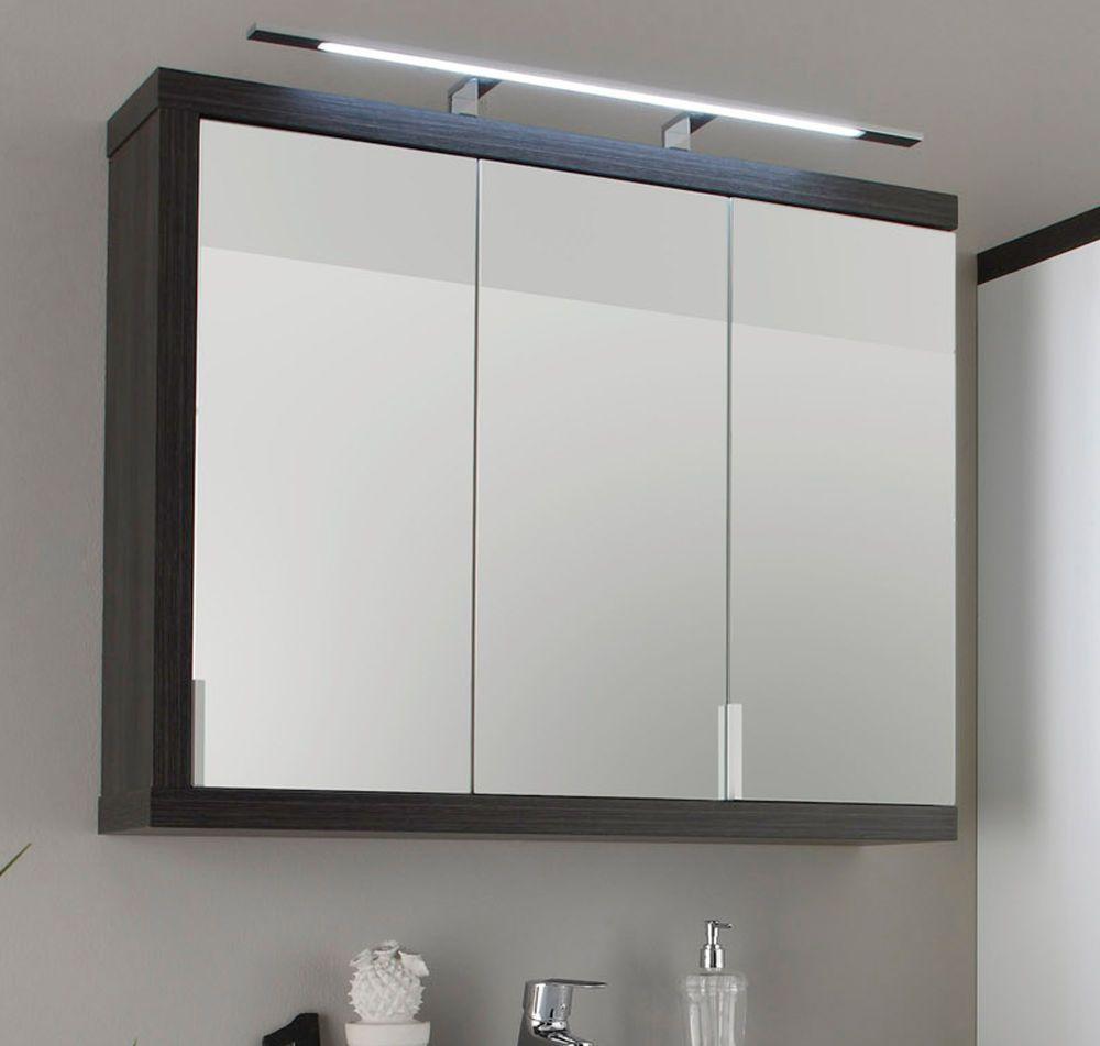 Bad Spiegelschrank 90 Cm 3 Turig Grau Sardegna Badezimmer Spiegel Mobel Sunrise Ebay Badezimmer Spiegelschrank Spiegelschrank Badezimmer