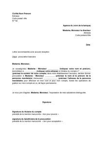 Modele lettre de procuration pour signature compromis de ...