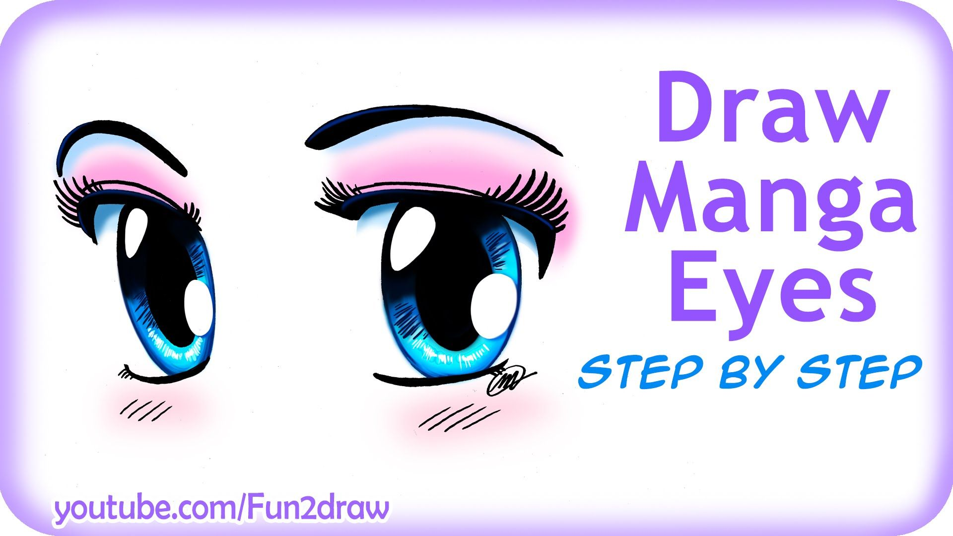 How to Draw Easy Manga Eyes by Fun2draw on youtube!