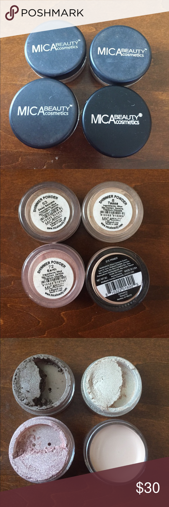 MICA Beauty Cosmetics I'm selling 3 shimmer powders in the
