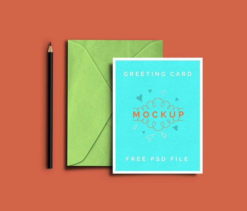 Greeting Card Psd Mockup Mockups Psd Templates For Designers