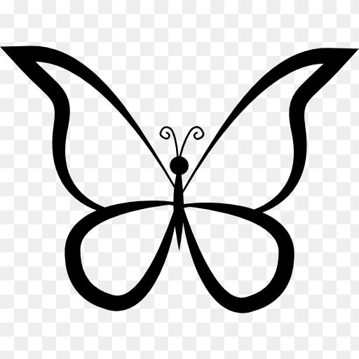 Butterfly Outline Png Butterfly Outline Design From Top View Free Animals Icons 512 512 Png Download Free T Butterfly Outline Outline Designs Animal Icon