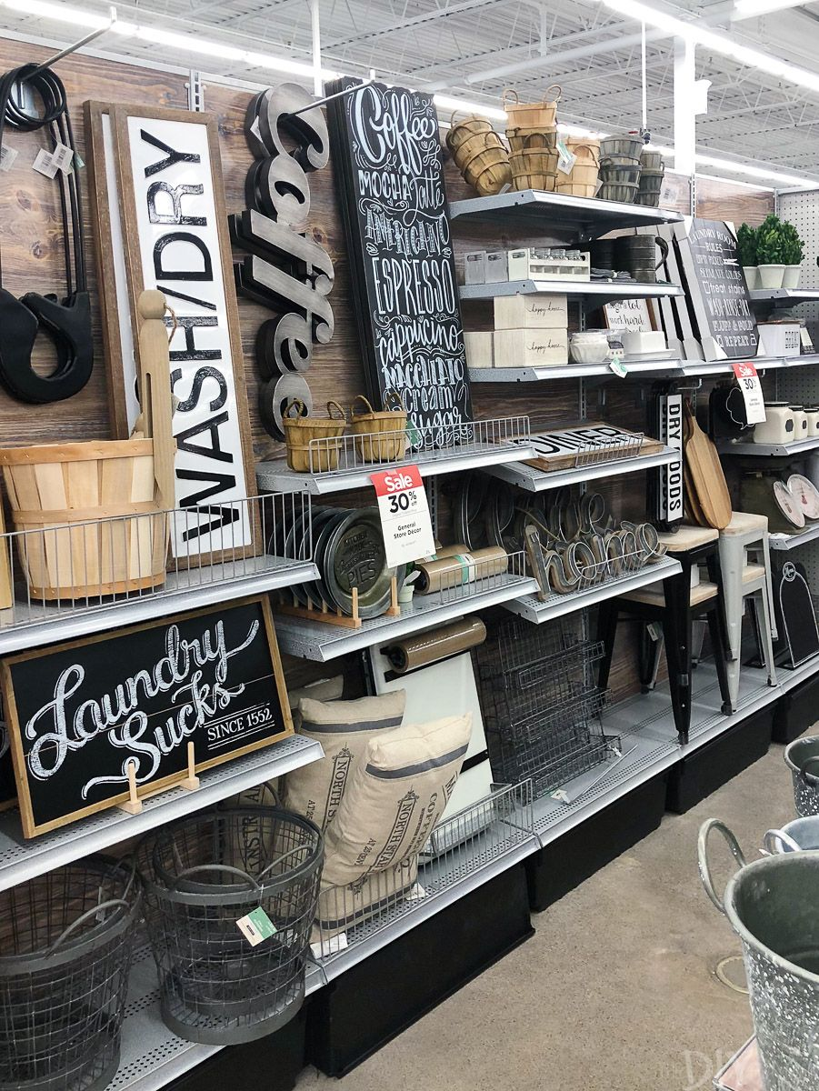 5647187c3d9 The general store decor from Michaels offers Fixer upper vibes! Love all of  these black and white pieces and we even picked up a few accessories for  our new ...
