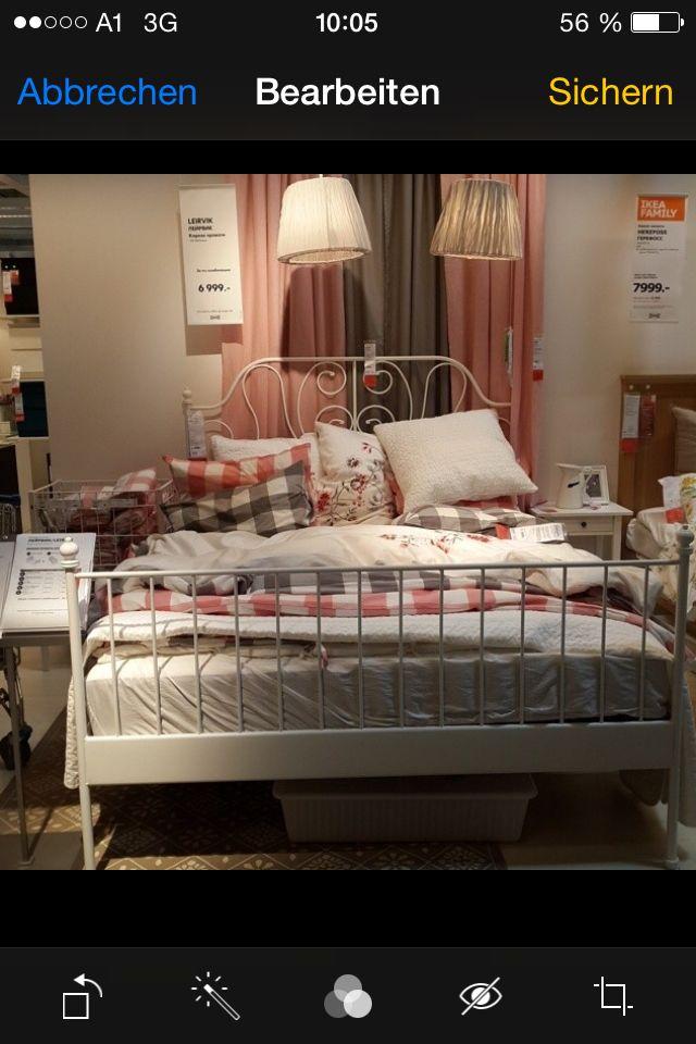 Ikea bedroom idea Leirvik bed and emmie ruta duvet cover   Ikea ...