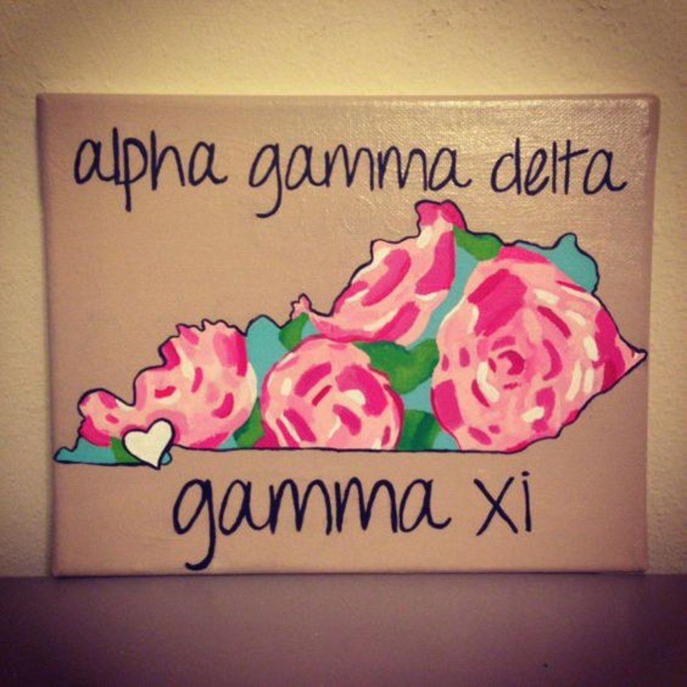 22 sorority crafts floral