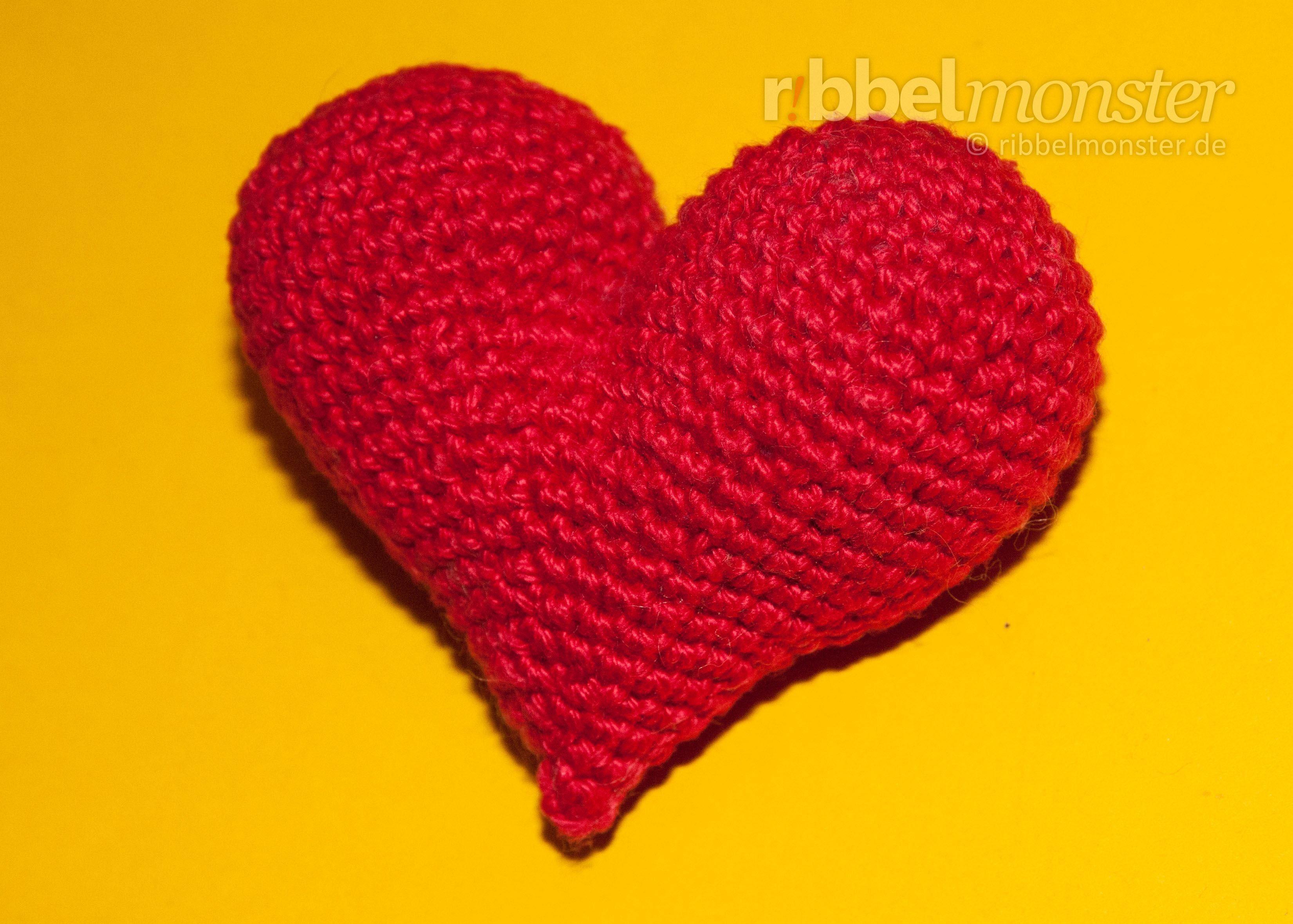 Amigurumi Herzlichstes Herz Häkeln Anleitung Nähen Pinterest