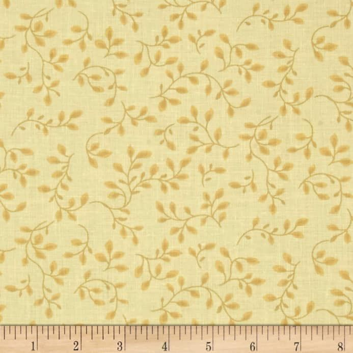 108'' Wide Quilt Backing Folio Vines Pale Yellow