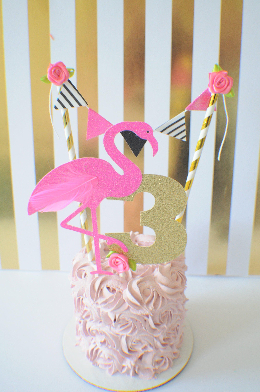Flamingo cake topper, Hawaiian cake topper, luau cake ...