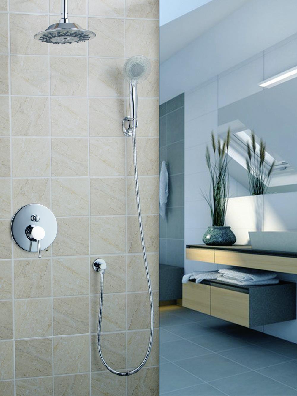50243 22a Bathroom Wall Mount Chrome 8 Abs Shower Head Brass