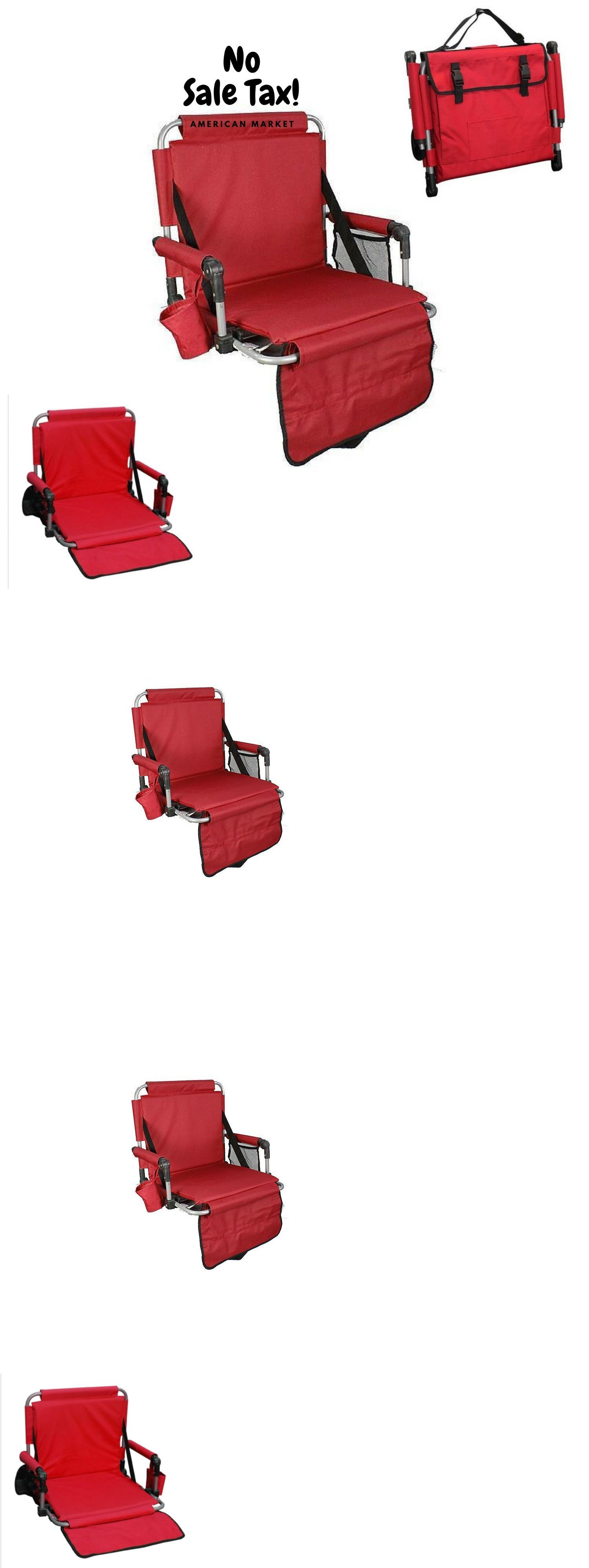 Other Outdoor Sports Portable Red Stadium Chair Arms