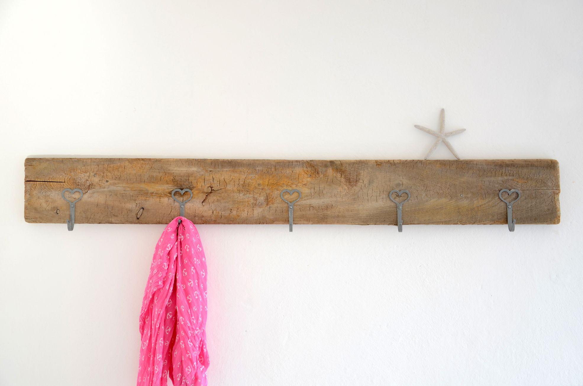 Treibholz-Wandgarderobe HEARTILY ~ driftwood hook board | Treibholz ...