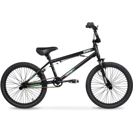 20 Hyper Spinner Pro Boys Bmx Bike Black Green Bmx Bikes Bike Freestyle Bmx