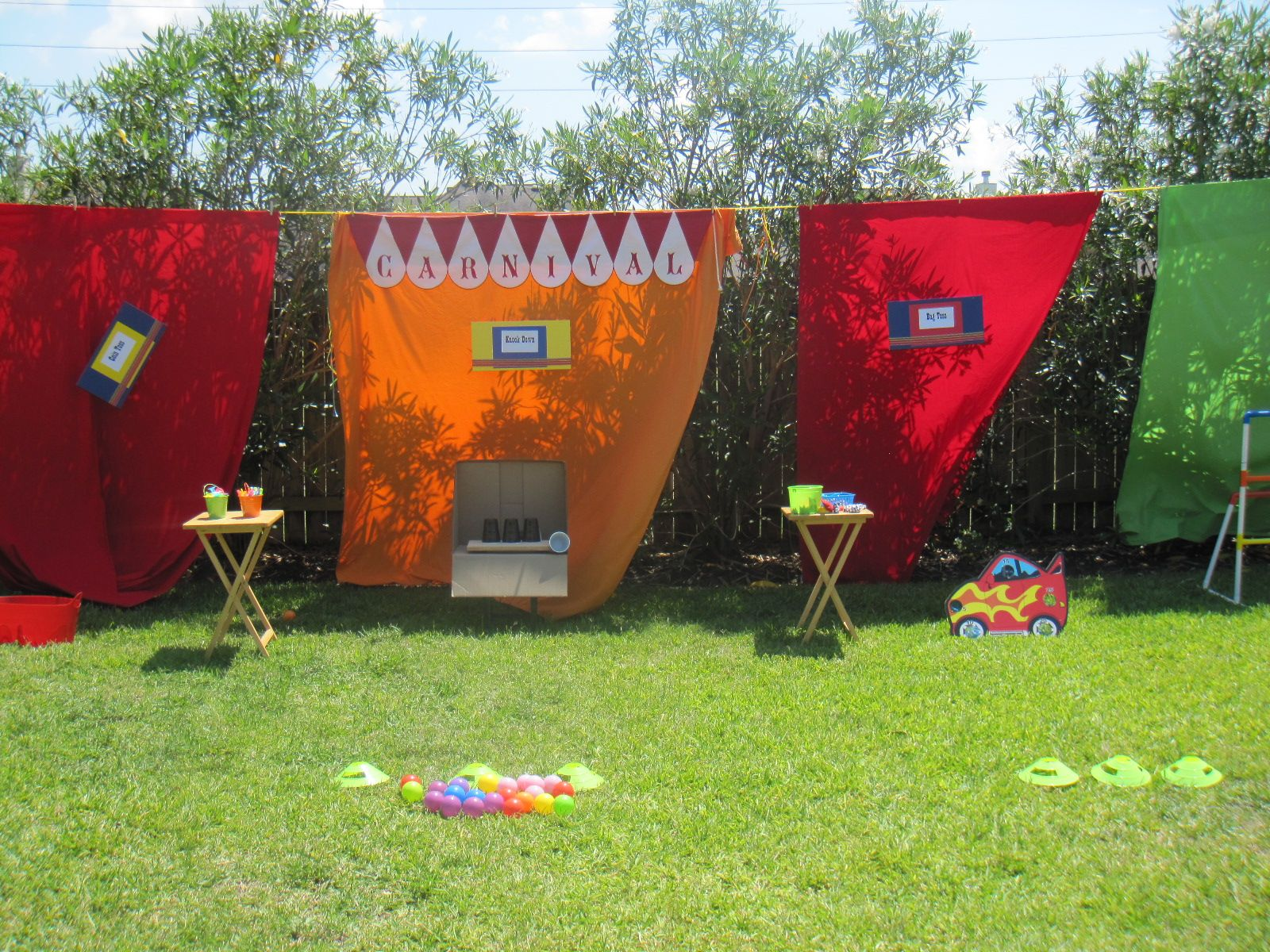 For my daughter's 8th carnival birthday party, we strung a ...