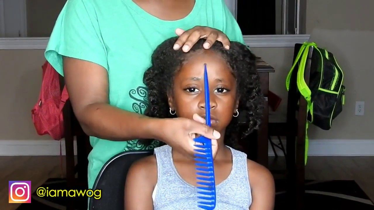 Quick u easy min sock bun hairstyle kids natural hairstyle