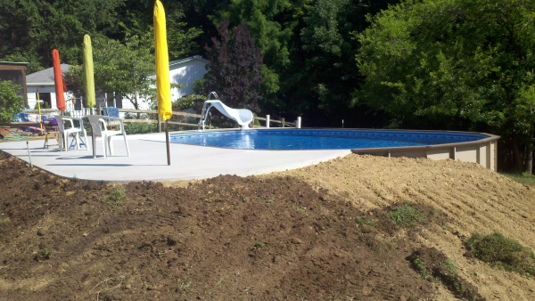 backfill above ground swimming pool - google search | deck/pool