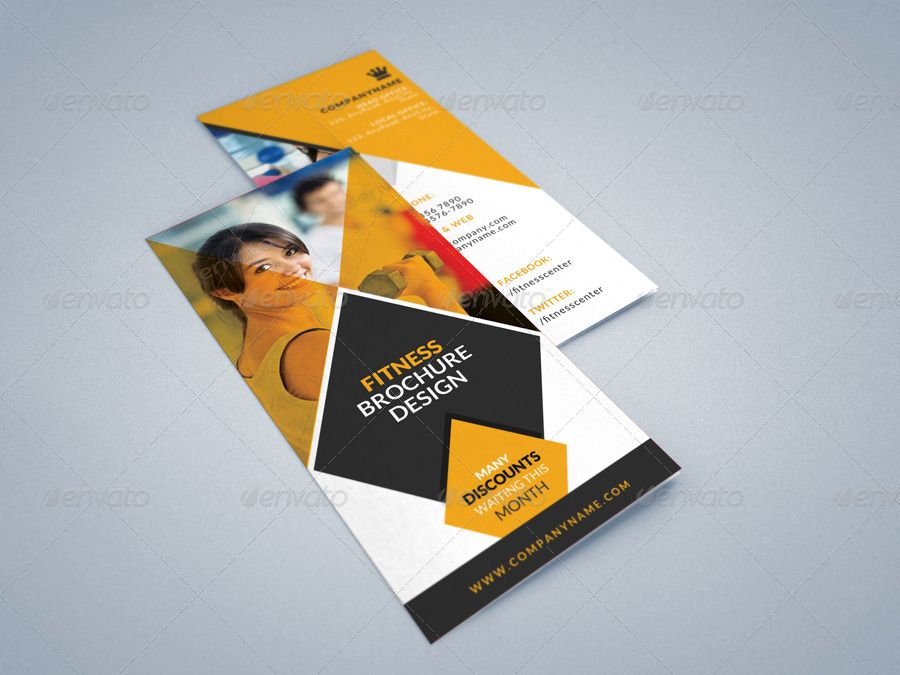 Fitness Gym Tri Fold Brochures Template 2 Trifold Brochure