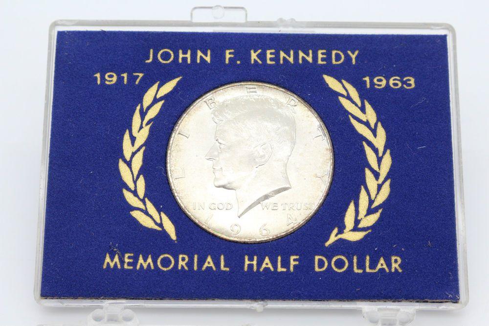 John F  Kennedy 1917 - 1963 Memorial Silver Half Dollar 1964