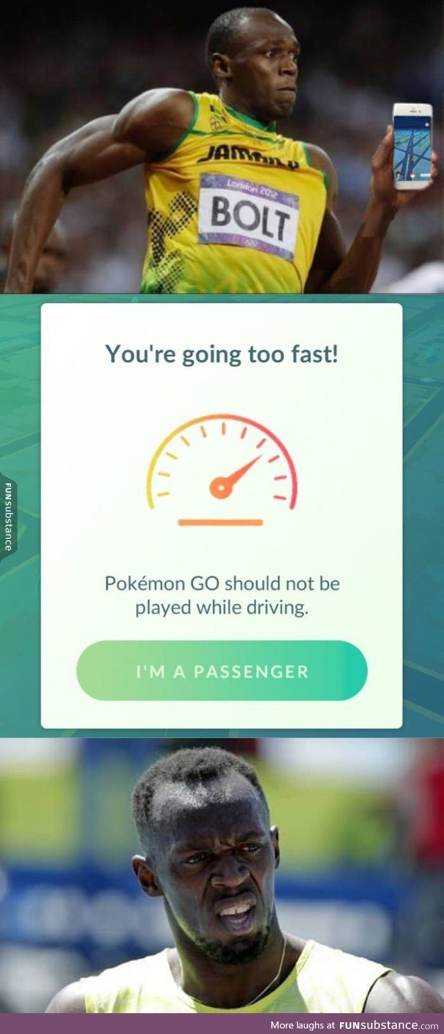 When Usain Bolt plays Pokemon GO.