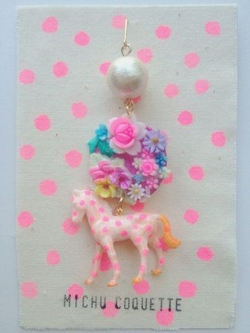 Michu coquette  Dotの3連ピアス thinking about making this into a hanging display