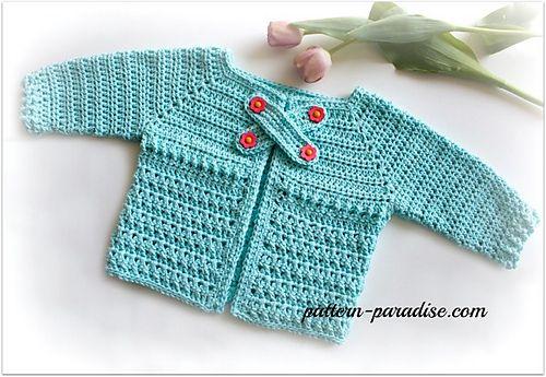 X Stitch Baby Cardigan Sweater By Maria Bittner - Free Crochet ...
