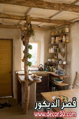 ديكورات شيك اخر حاجه للمطابخ الصغيره Tiny House Kitchen Kitchen Design Small Rustic Kitchen