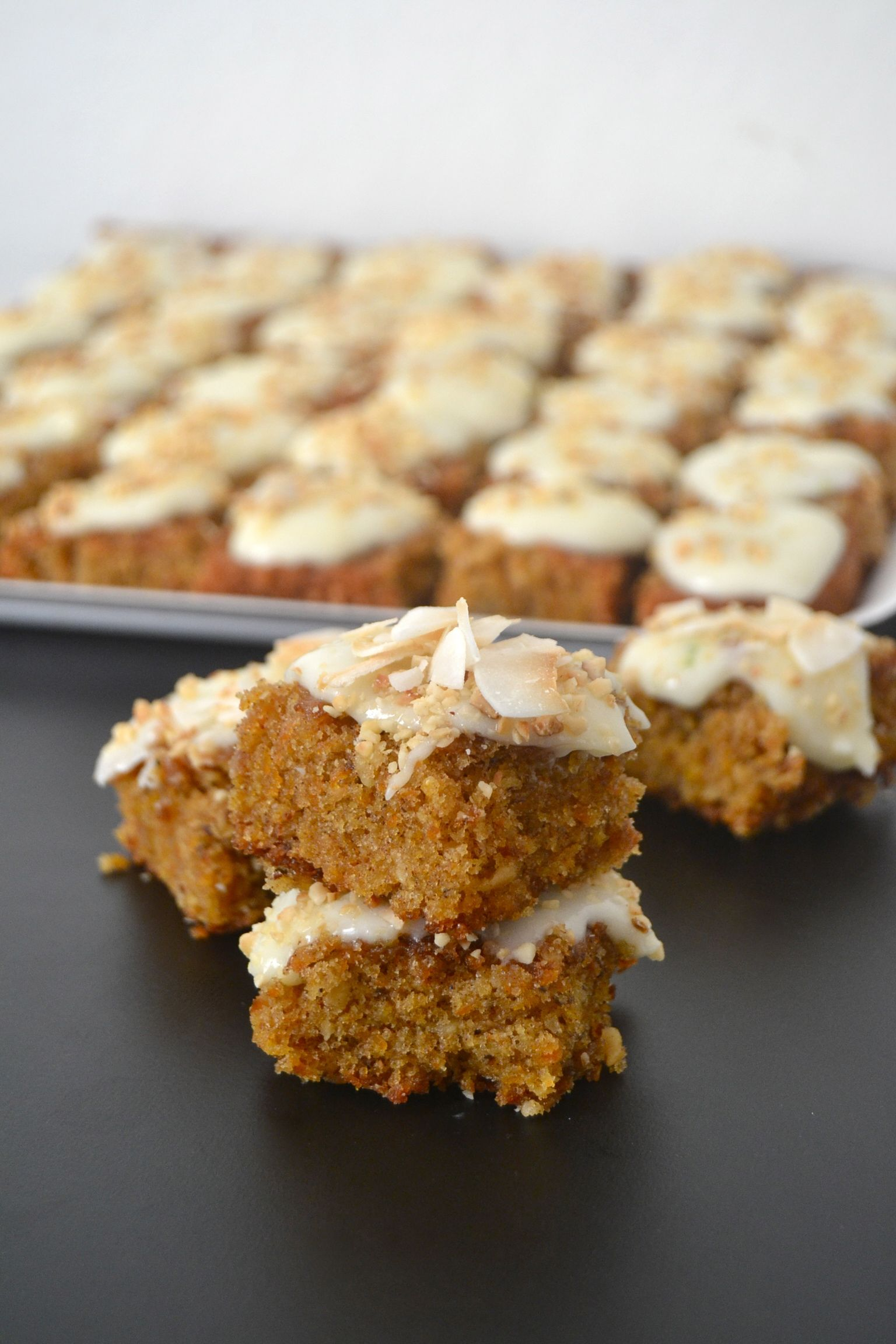 Carrot cake with nuts.