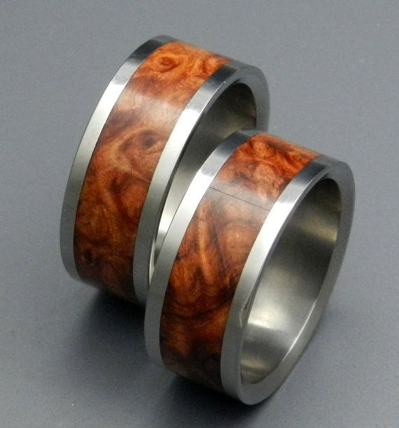 Amber Rose Wooden Wedding Rings By Minterandrichterdes On Etsy 500 00
