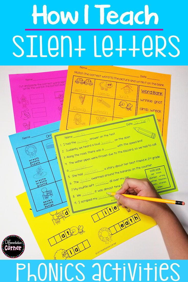 small resolution of Silent Letters wr gn kn mb Distance Learning   Teaching spelling words