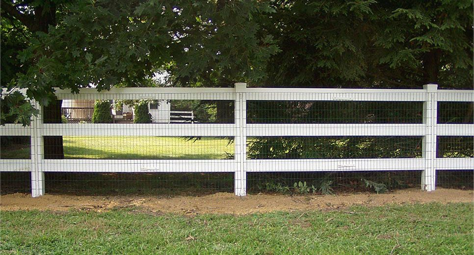 3 4 Vinyl Fence With Mesh Florida Dreaming Concrete