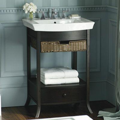 Kohler Archer Vitreous China Rectangular Pedestal Bathroom Sink