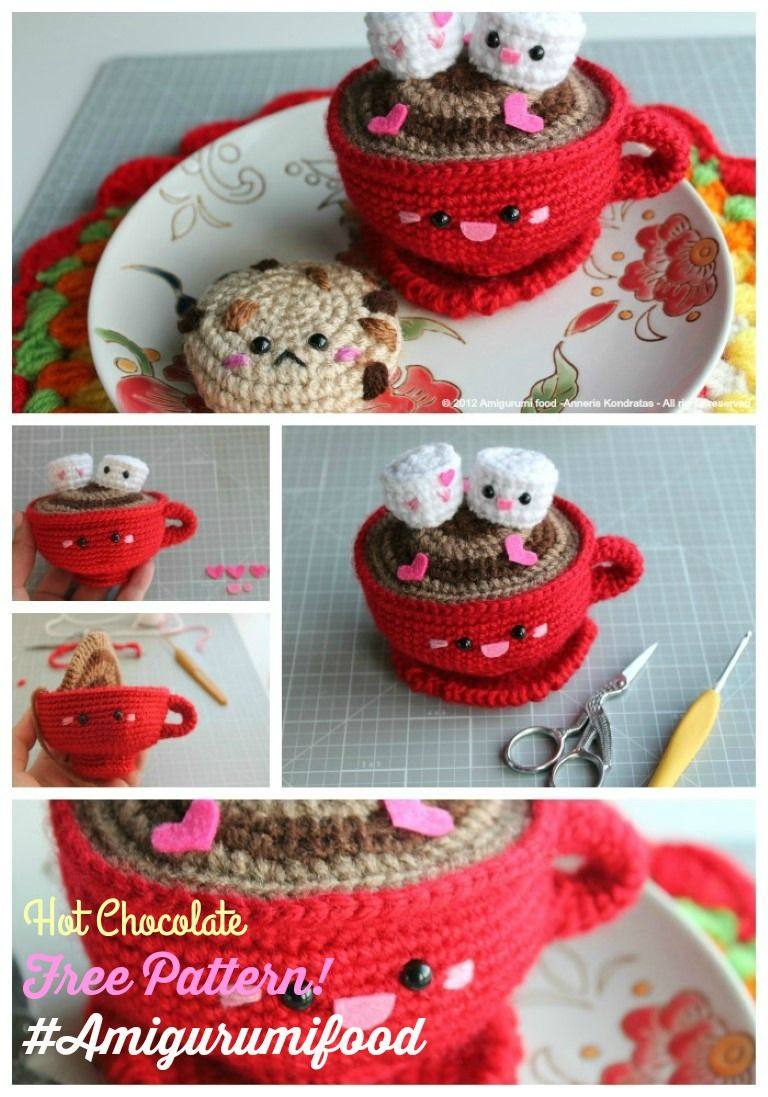 Amigurumi Hot Chocolate - Free | Ganchillo - acerico | Pinterest ...