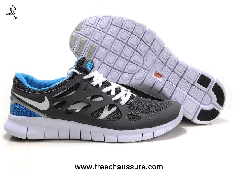 la moitié 24670 3bb06 nike free run 2 femmes 443815-108 gris bleu   Nike Free ...