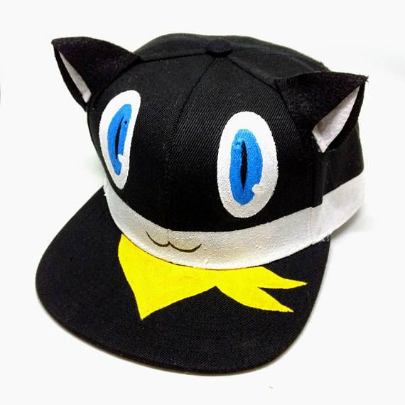 Morgana Persona 5 Cat Phantom Thieves Steal Your Heart Cosplay Costume Snapback  Hat Cat Bus Shin Meg 32439401db1