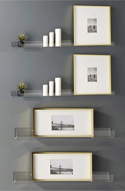 Heavy Duty Clear Acrylic Floating Shelf//Display shelves Blingsoul pack of 4