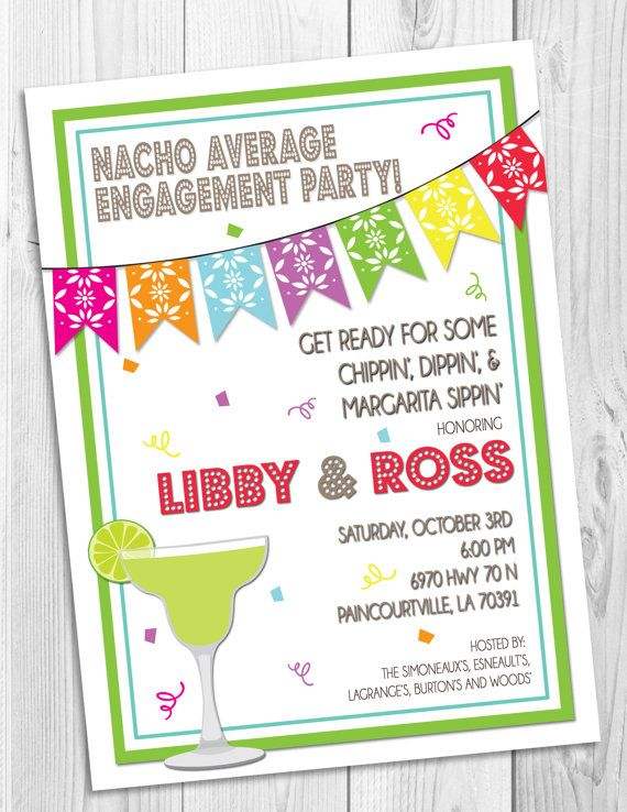 Mexican Fiesta Engagement Party Invitation – Engagement Party Invitations Etsy