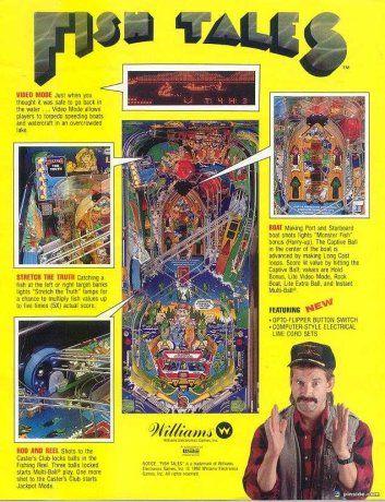 Fish Tales Pinball Machine Williams 1992 Fish Tales Pinball Pinball Art