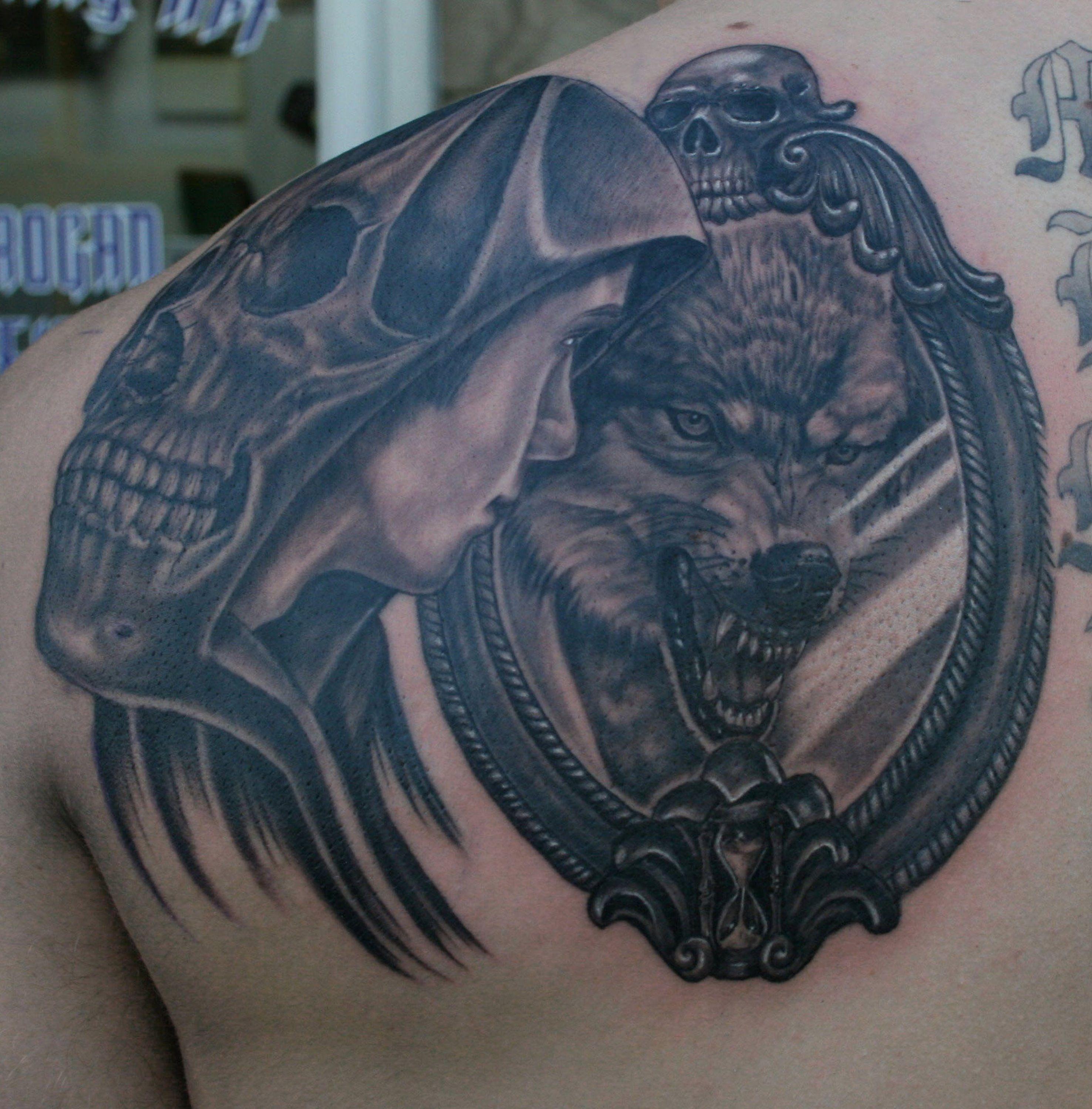 Big Bad Wolf Tattoo Wolf Tattoos Tribal Wolf Tattoo Mirror Tattoos