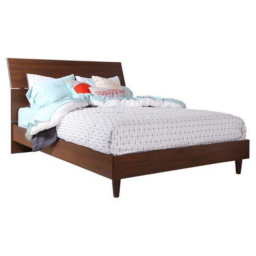 Best Gheorghita Upholstered Platform Bed Almond Master 400 x 300