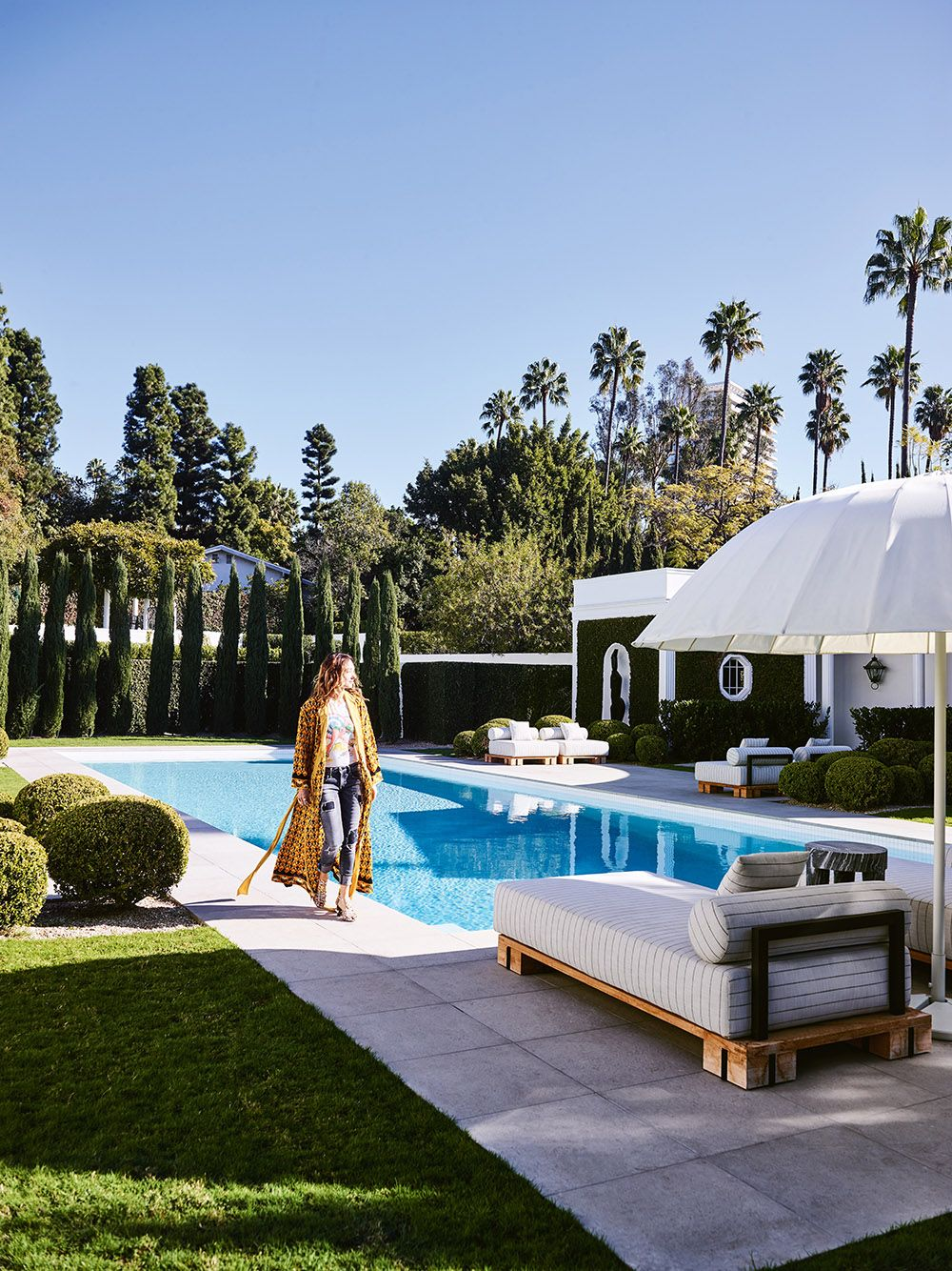 Kelly Wearstler shot at her home in Beverly Hills for the